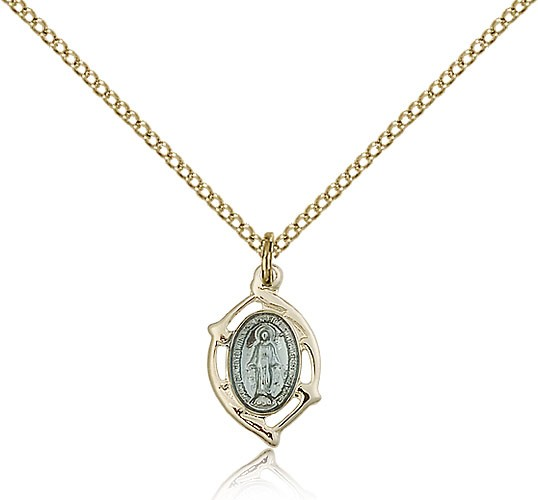 Small Miraculous Medal - 14KT Gold Filled