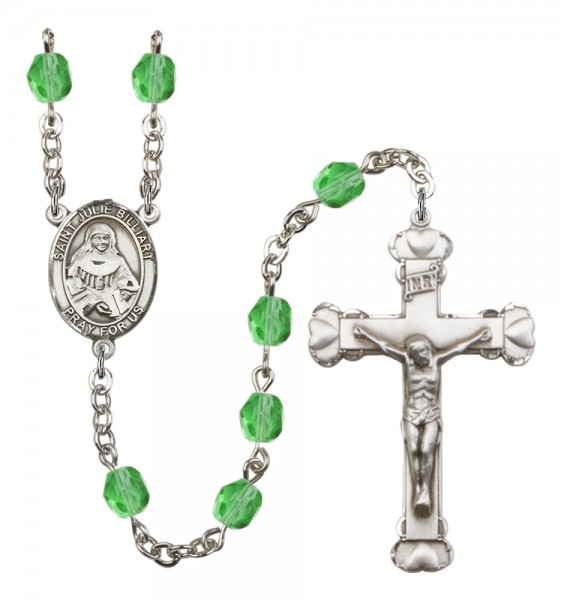 Women's St. Julie Billiart Birthstone Rosary - Peridot