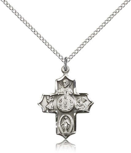 Chalice Center 4 Way Pendant - Sterling Silver