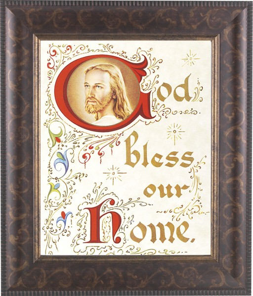 God Bless Our Home Framed Print - #124 Frame
