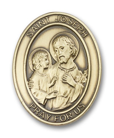 St. Joseph Visor Clip - Antique Gold