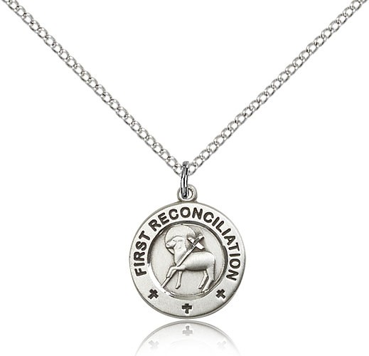 First Reconciliation Pendant - Sterling Silver