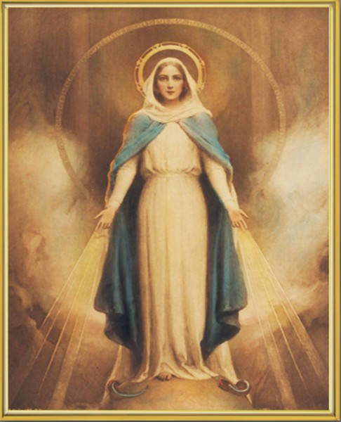 Miraculous Mary Gold Framed Print - Full Color