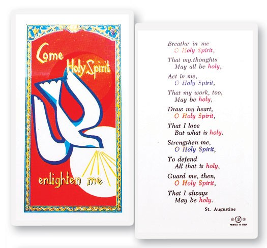 Confirmation Holy Spirit Breath Laminated Prayer Cards 25 Pack - Full Color