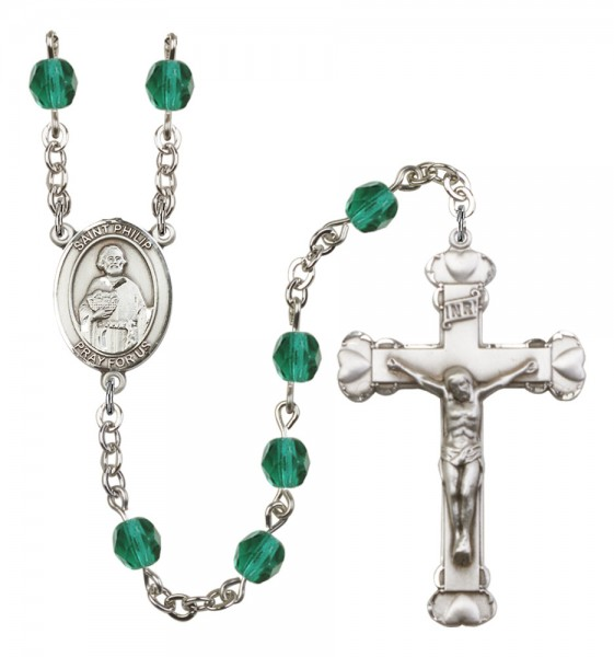 Women's St. Philip the Apostle Birthstone Rosary - Zircon
