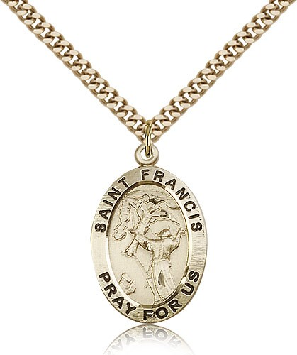 St. Francis of Assisi Medal - 14KT Gold Filled