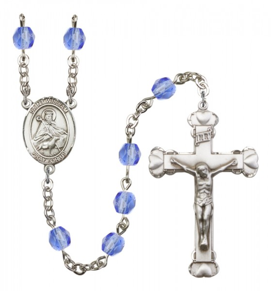 Women's St. William of Rochester Birthstone Rosary - Sapphire