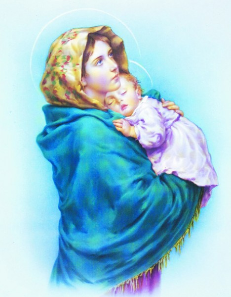 Madonna of the Streets Print - Sold in 3 per pack - Multi-Color