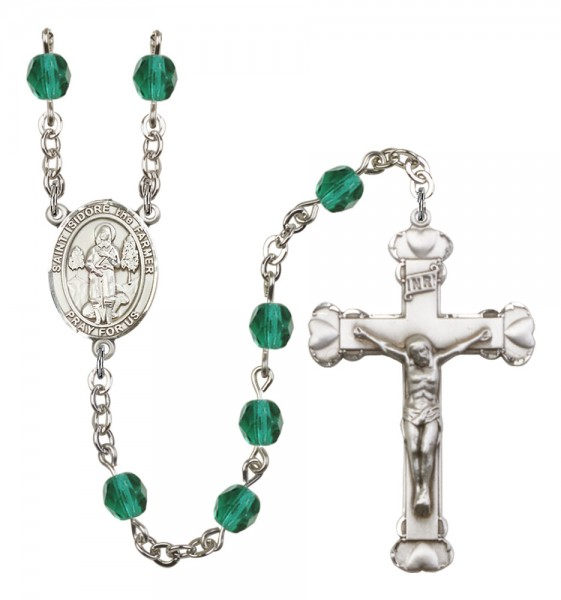 Women's St. Isidore the Farmer Birthstone Rosary - Zircon