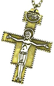 San Damiano Cross - Large - Gold