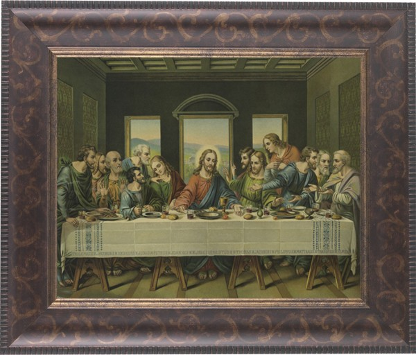 Last Supper Framed Print - #124 Frame