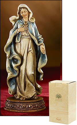 "Immaculate Heart of Mary Statue - 6""H - Multi-Color"