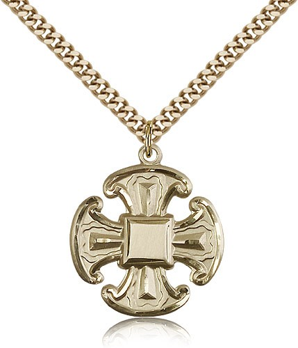 Canterbury Cross Pendant - 14KT Gold Filled