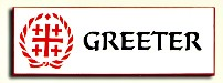 Greeter Badge - White