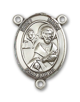St. Mark the Evangelist Rosary Centerpiece Sterling Silver or Pewter - Sterling Silver