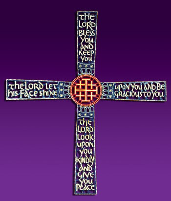 The Cross of Blessing Wall Cross - Multi-Color