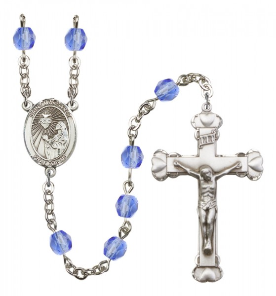 Women's St. Margaret Mary Alacoque Birthstone Rosary - Sapphire