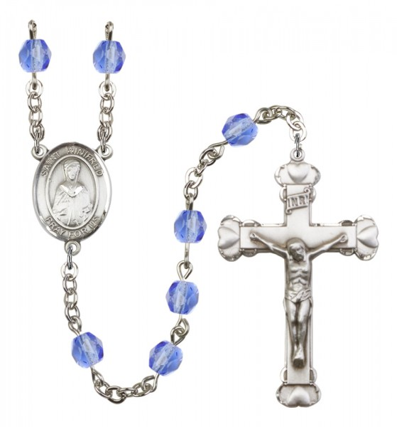Women's St. Winifred of Wales Birthstone Rosary - Sapphire