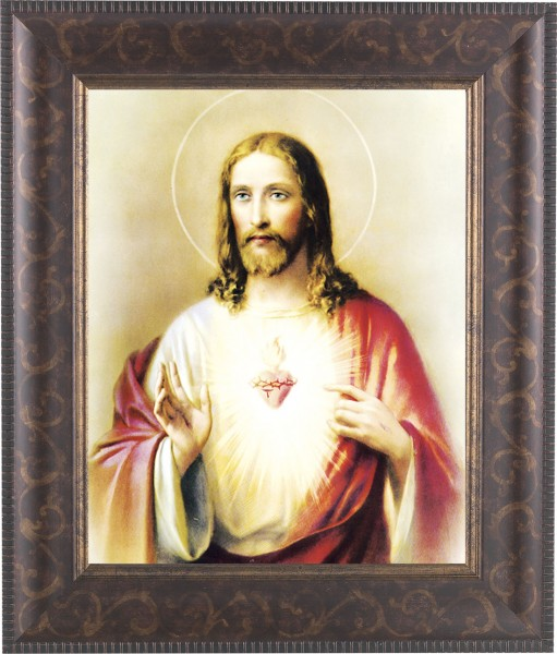 Sacred Heart of Jesus Framed Print - #124 Frame