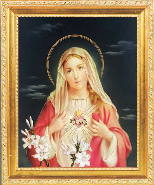 Immaculate Heart of Mary Framed Print - 4 Frame Options Available - #45 Frame