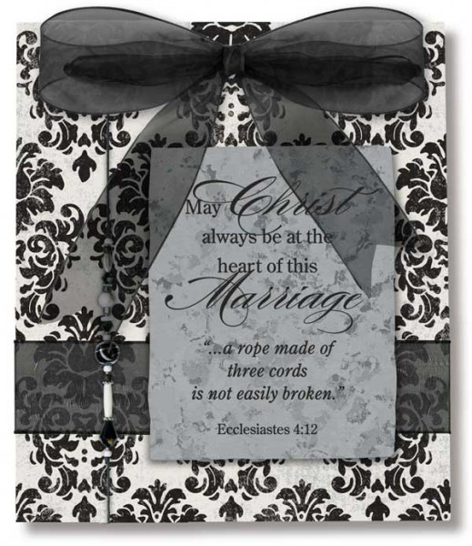 Marriage Wall Plaque - Black | White