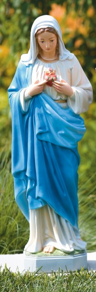 Immaculate Heart of Mary Statue 26 Inches - Detailed Color Finish