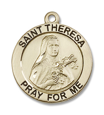 Men's St. Theresa Pendant  - 14K Solid Gold