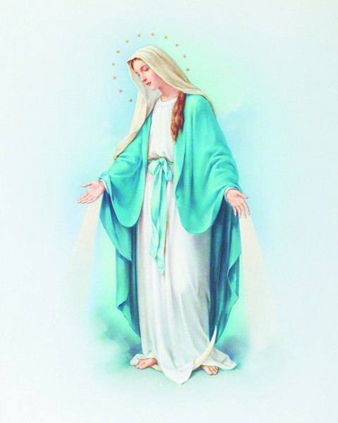 Our Lady of Grace Print - Sold in 3 per pack - Multi-Color