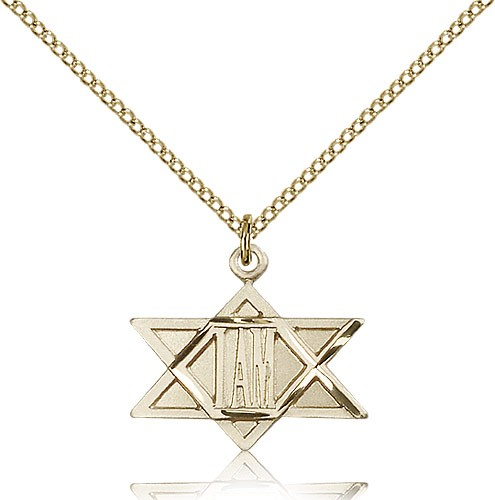 I Am Star of David Pendant - 14KT Gold Filled