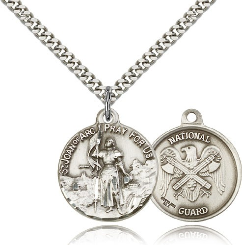 National Guard St. Joan of Arc Medal - Sterling Silver