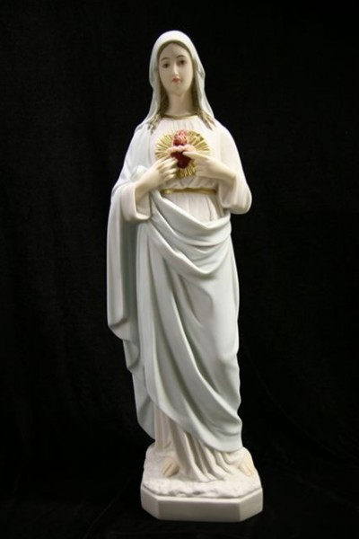 Immaculate Heart of Mary Statue Hand Painted - 25 inch - Multi-Color