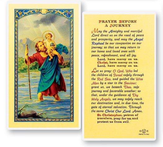 Prayer Before A Journey Laminated Prayer Cards 25 Pack - Full Color