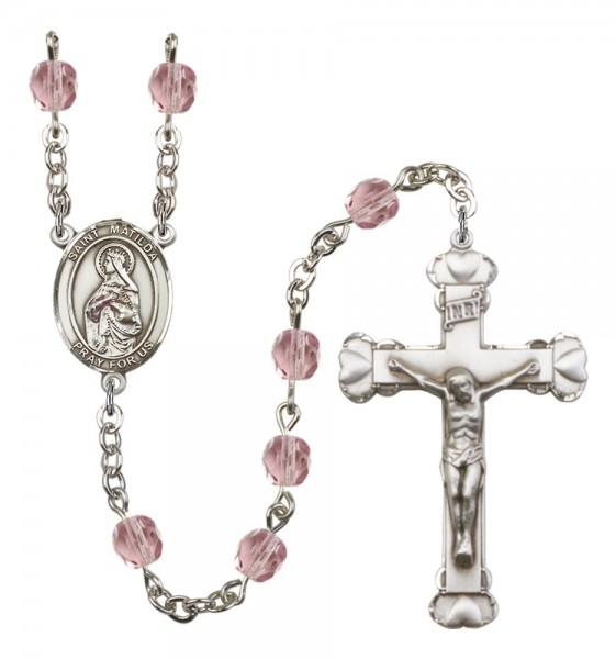 Women's St. Matilda Birthstone Rosary - Light Amethyst