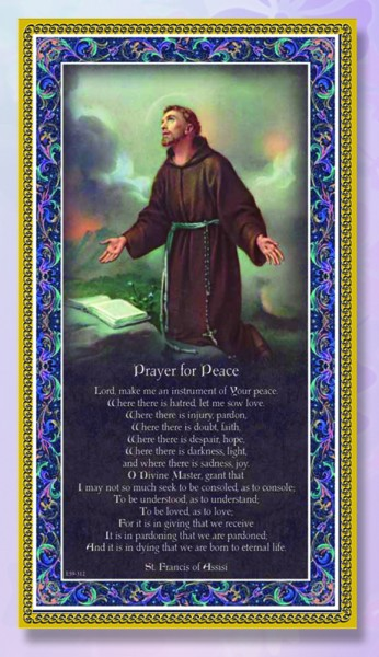 St. Francis of Assisi Italian Prayer Plaque - Multi-Color