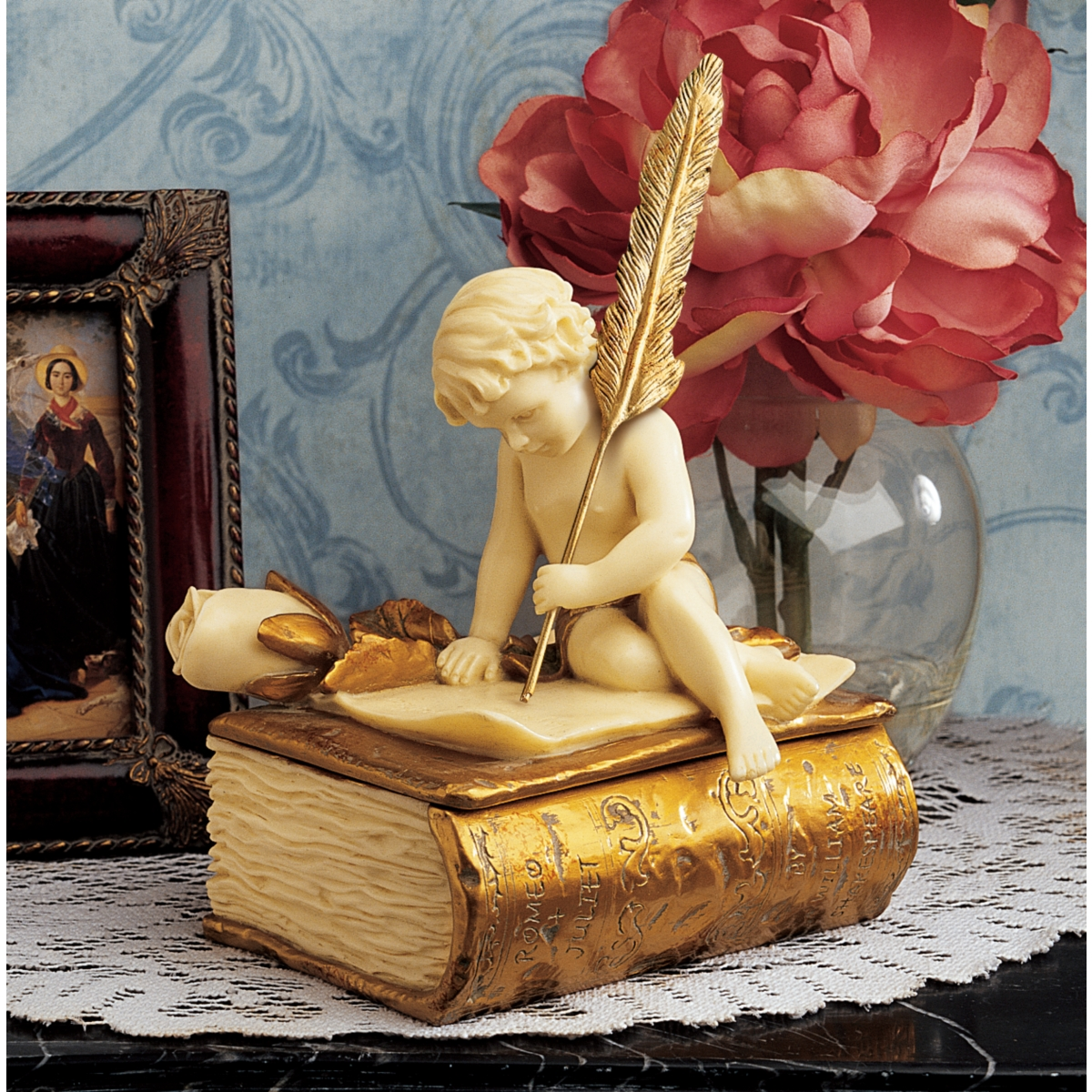 Angel Keepsake Box - Gold