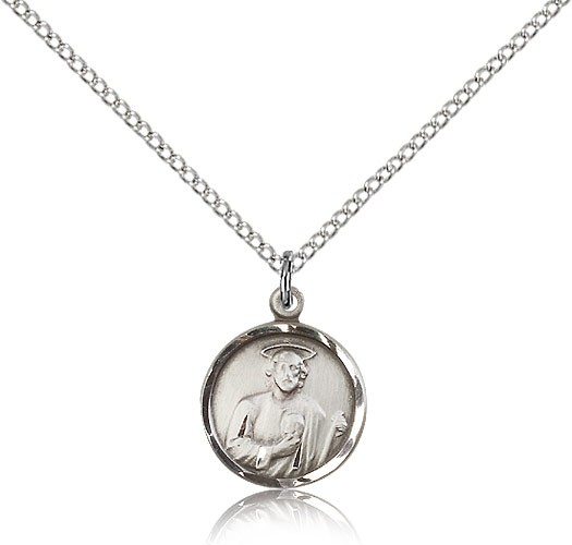 Women's Round St. Jude Medal - Sterling Silver