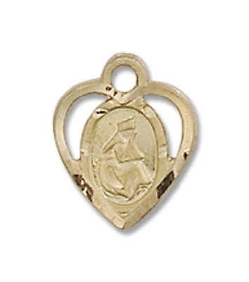 Petite Our Lady of La Salette Medal - 14K Yellow Gold