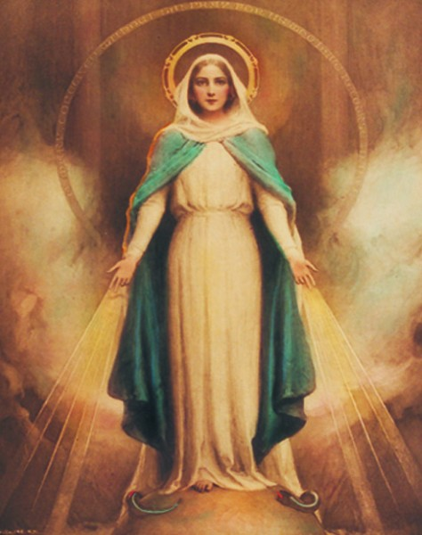 Miraculous Mary Print - Sold in 3 per pack - Multi-Color