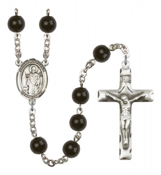 Men's St. Wolfgang Silver Plated Rosary - Black