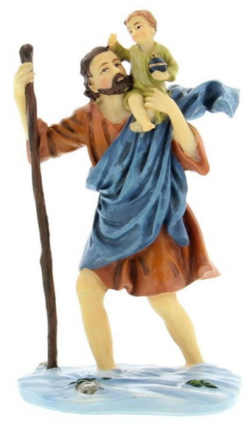 "St. Christopher Statue 3.5"" - Multi-Color"