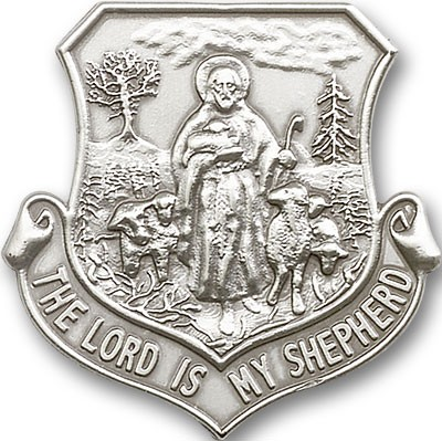 Lord Is My Shepherd Visor Clip - Antique Silver