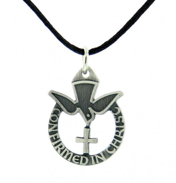 Confirmed in Christ Pendant - Pewter