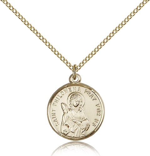 Women's St. Philomena Medal - 14KT Gold Filled