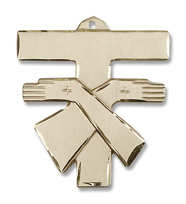 Men's Franciscan Cross Pendant - 14K Solid Gold