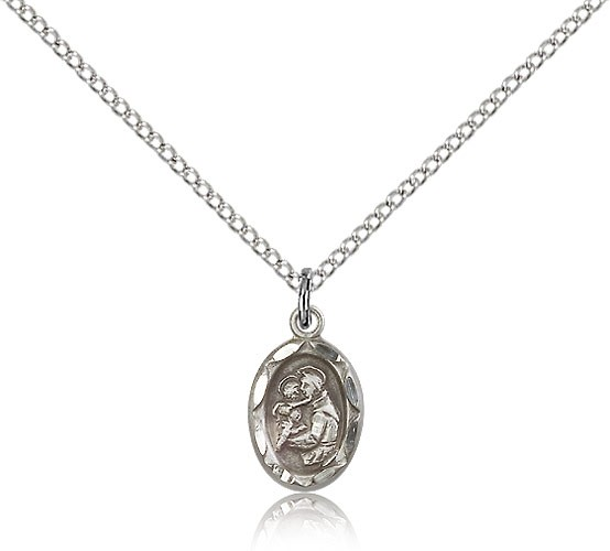 Women's Oval St. Anthony Medal - Sterling Silver