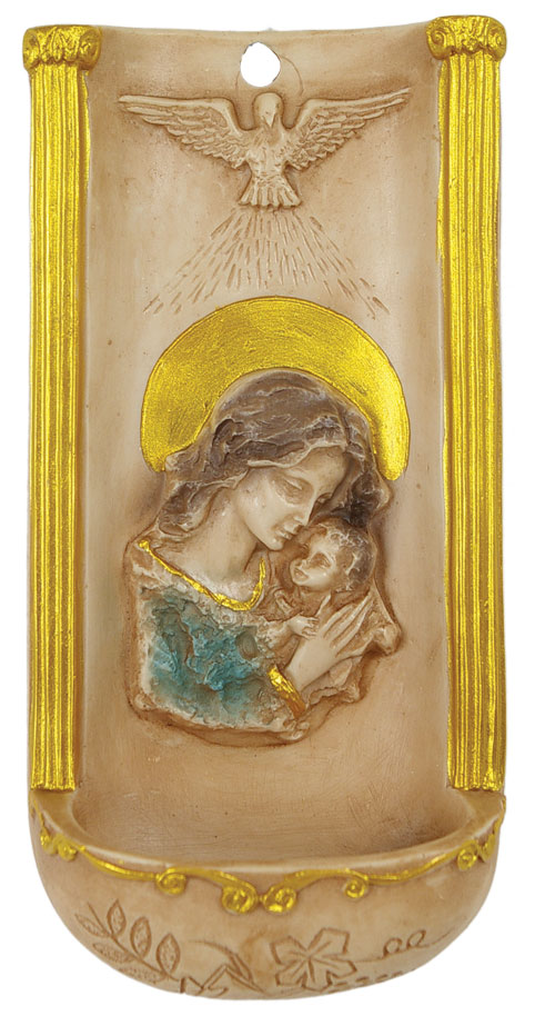 Madonna and Child Water Font - Full Color