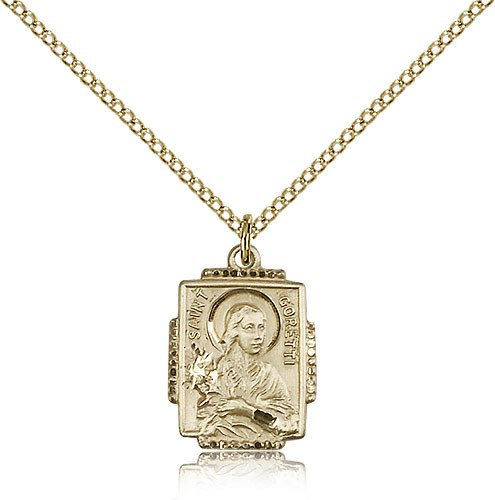 Women's St. Maria Goretti Medal - 14KT Gold Filled