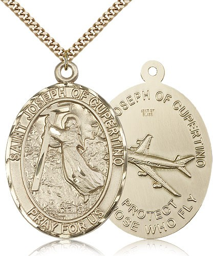 Large St. Joseph of Cupertino Medal - 14KT Gold Filled