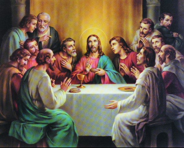 Last Supper Print - Sold in 3 per pack - Multi-Color