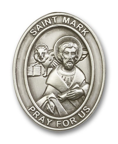 St. Mark Visor Clip - Antique Silver